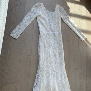 Reformation hestia wedding lace gown dress 4